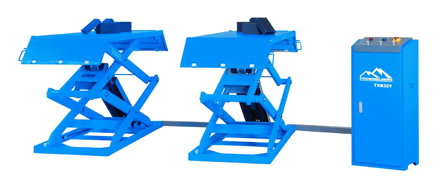 3 Ton Double Scissor Lift low profile